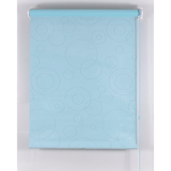 Рулонная штора Blackout 80х160 см, имитация замши «замша», цвет голубой