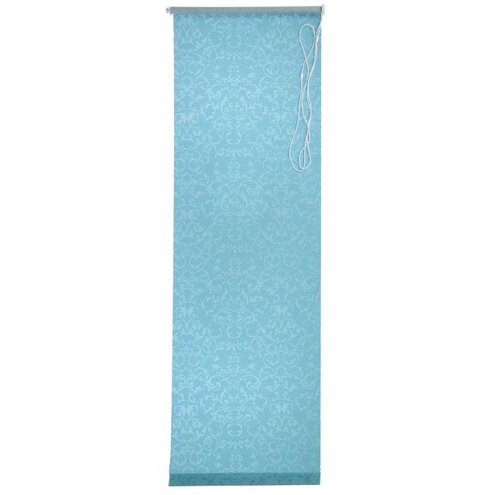 """Штора рулонная 70х175 см, """"Дельфы"""", цвет аквамарин"""