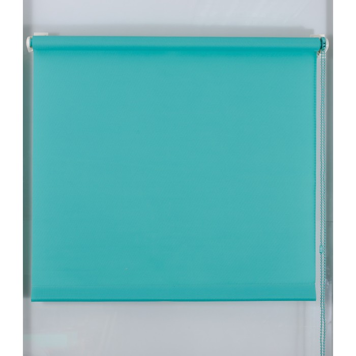 Рулонная штора «Простая MJ» 40х160 см, цвет морская волна