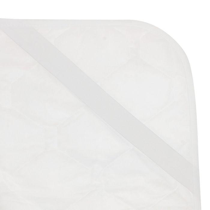 Наматрасник на рез. 140*200см,бел,силиконизированное волокно,микрофибра/спанбонд,100г/м,пэ