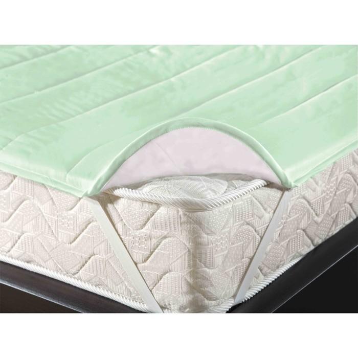 Наматрасник-топпер на резинке, размер 140х200 см, цвет светло-зелёный