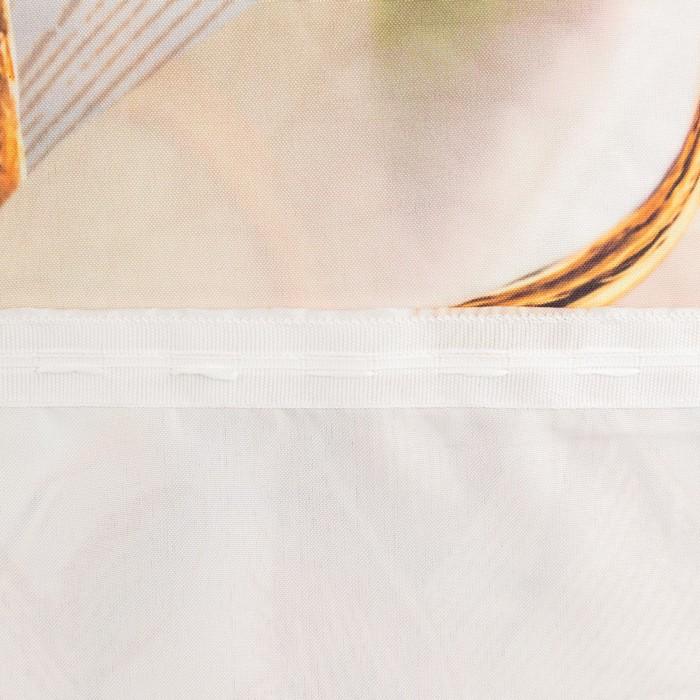Комплект штор  Фарфоровый сервиз 147х267 +/- 3см 2шт, габардин, п/э