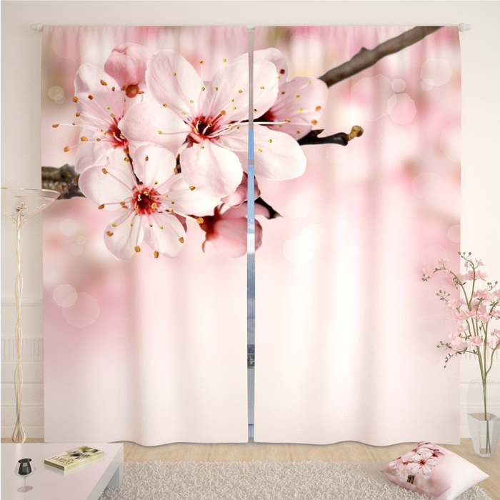 Фотошторы «Ветвь», размер 145 × 260 см,  блэкаут