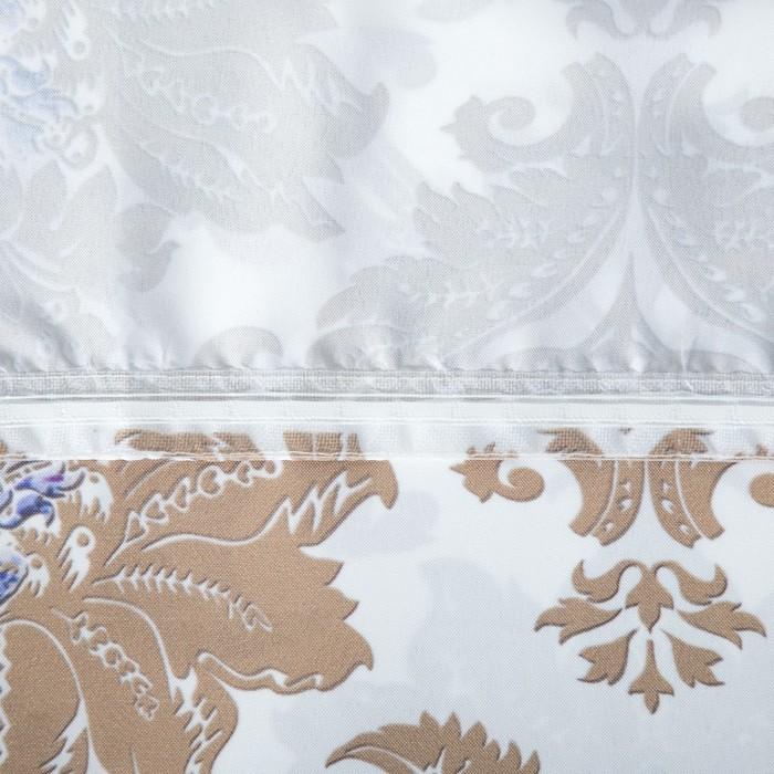 Комплект штор Эмир белый, 150х270 +/- 3см 2шт, габардин, п/э
