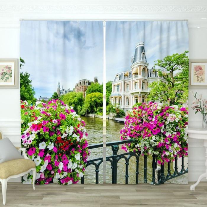 """Фотошторы """"Вид с балкона 2"""", размер 150х260 см-2 шт., габардин"""