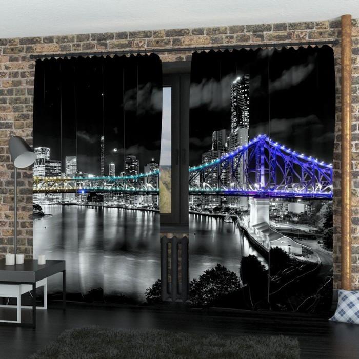 "Фотошторы ""Австралия"", размер 150х260 см-2 шт., габардин"