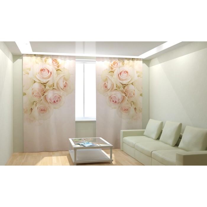 """Фотошторы """"Чувственные розы"""", размер 150х260 см, габардин"""