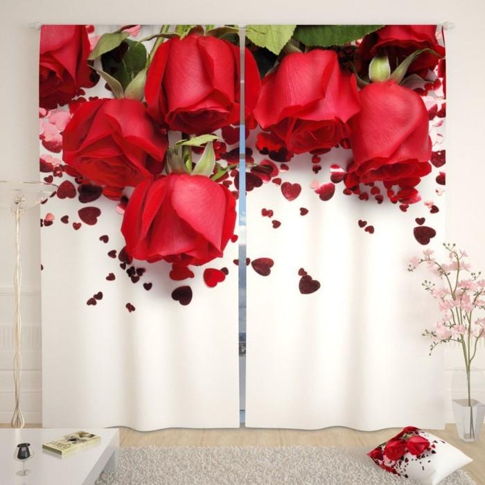 """Фотошторы """"Праздничные розы"""", размер 150х260 см-2 шт., габардин"""