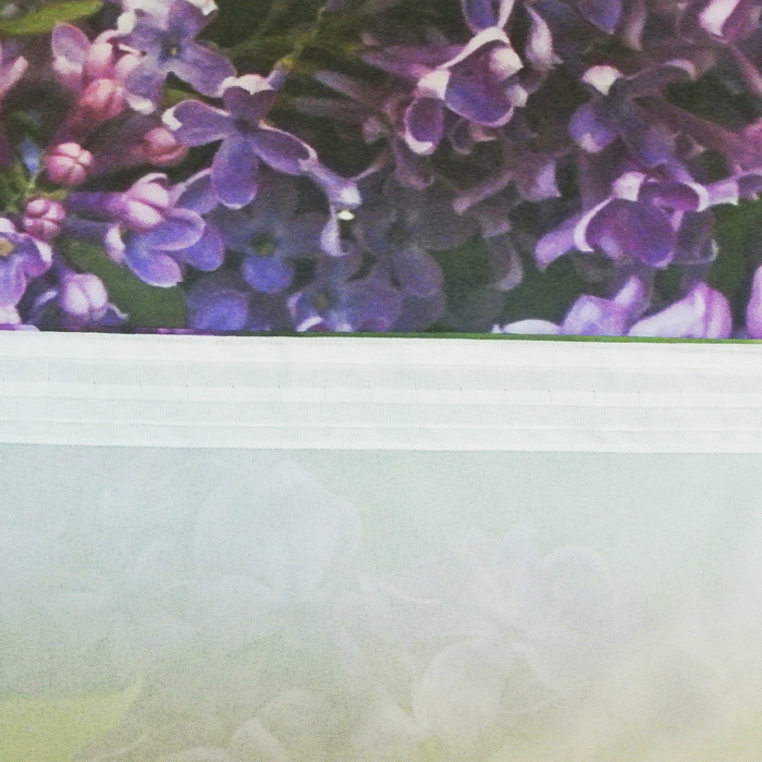 "Фотошторы ""Цветет сирень"" 145х260 см 2шт, габардин 160гр/м2, пэ100%"