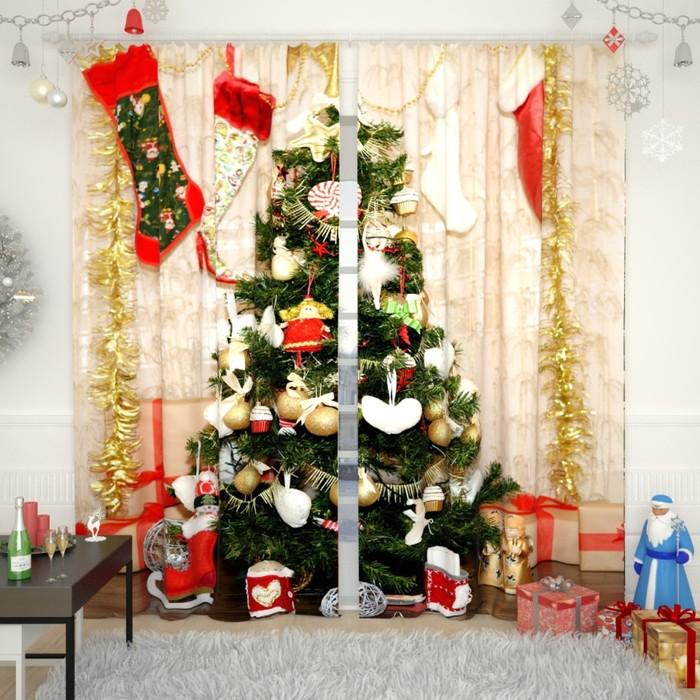 """Фотошторы """"Новогодняя коллекция 99"""", размер 150х260 см, габардин"""