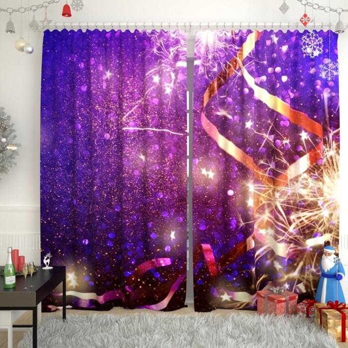 """Фотошторы """"Новогодняя коллекция 148"""", размер 150х260 см, габардин"""