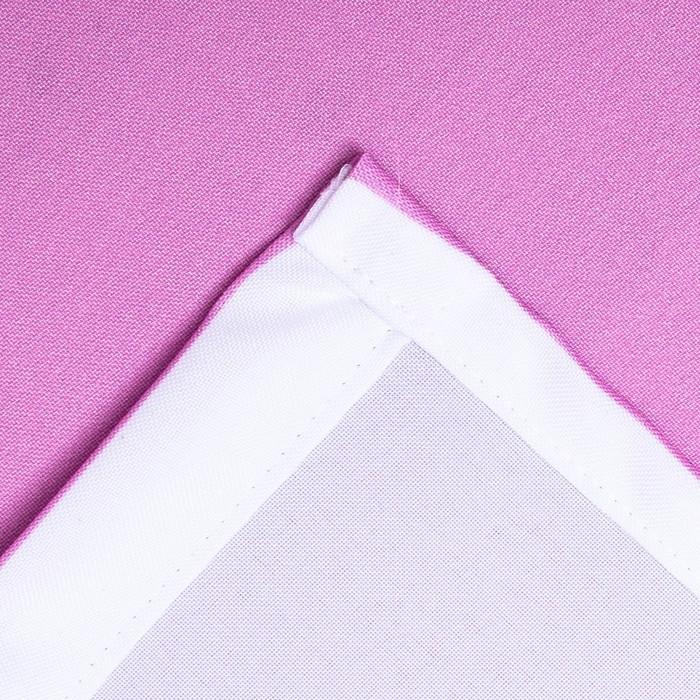 """Фотошторы """"Розовые Хризантемы"""" 145х260 см 2шт, габардин 160гр/м2, пэ100%"""