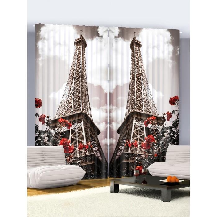 """Комплект фотоштор Joy Arty """"Париж, Париж!"""", 145 х 265 см - 2 шт, 100% полиэстер"""