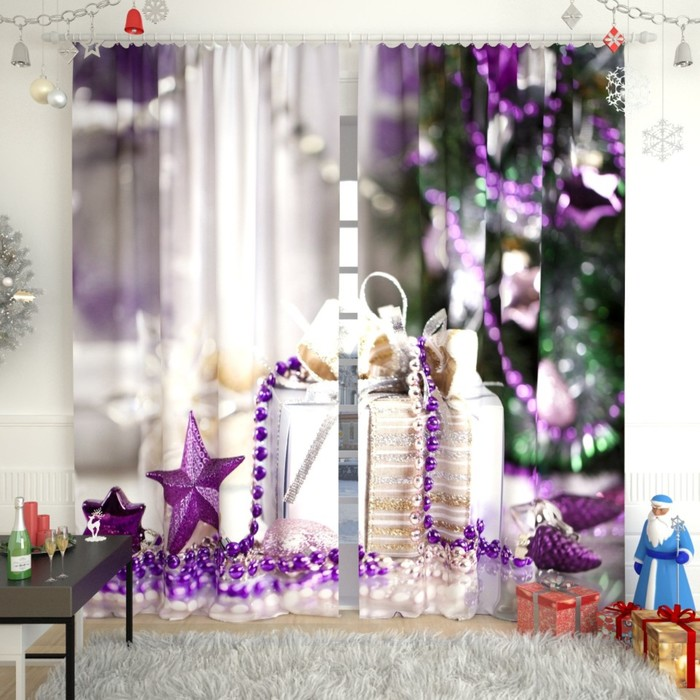 "Фотошторы ""Новогодняя коллекция 103"", размер 150х260 см, блэкаут"