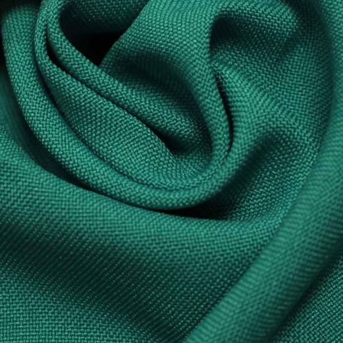 Ткань костюмная габардин, ширина 150 см, цвет аквамарин 260 г/п.м.