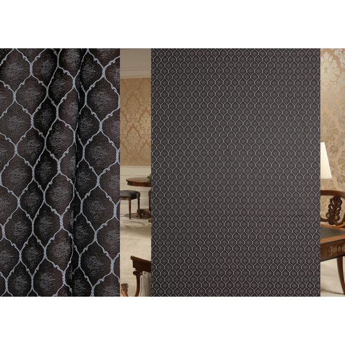 Ткань портьерная в рулоне, ширина 280 см, жаккард 98450
