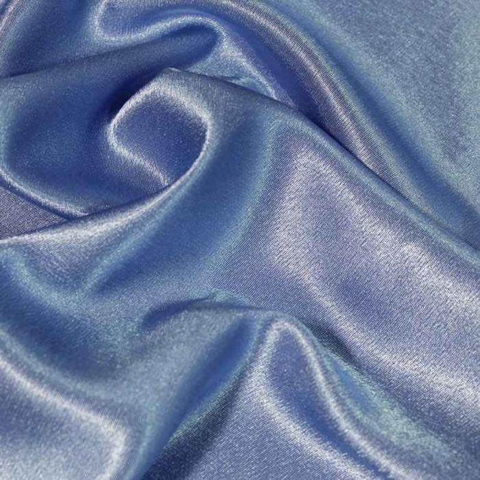 Ткань плательная-Креп сатин, ширина 150 см, цвет тёмно-голубой, 210 г/п.м.