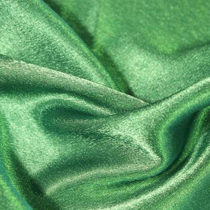 Ткань плательная-Креп сатин, ширина 150 см, цвет изумрудный, 210 г/п.м.