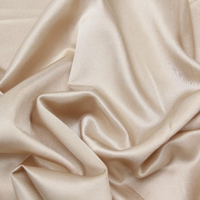 Ткань плательная, креп-сатин, ширина 150 см, цвет бежевый, 210г/м.п
