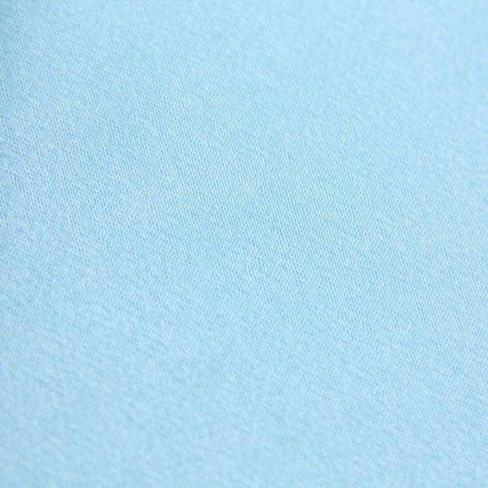 Ткань плательная, креп-сатин, ширина 150 см, цвет нежно-голубой, 210г/м.п