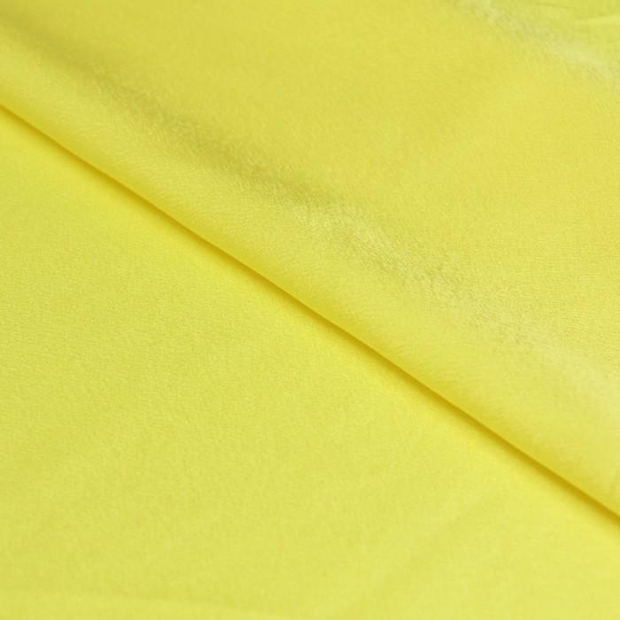 Ткань плательная, креп-сатин, ширина 150 см, цвет светло-жёлтый, 210г/м.п
