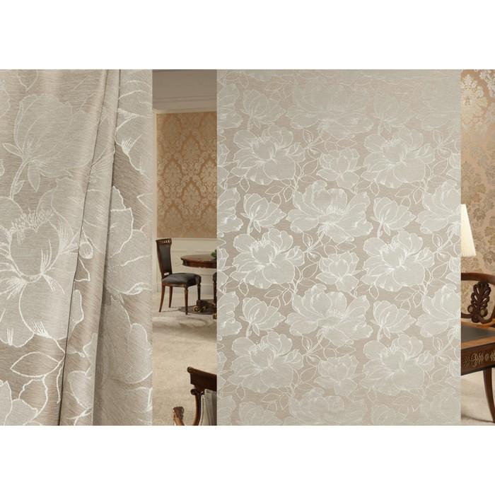 Ткань портьерная Interio в рулоне, ширина 150 см, жаккард 94505