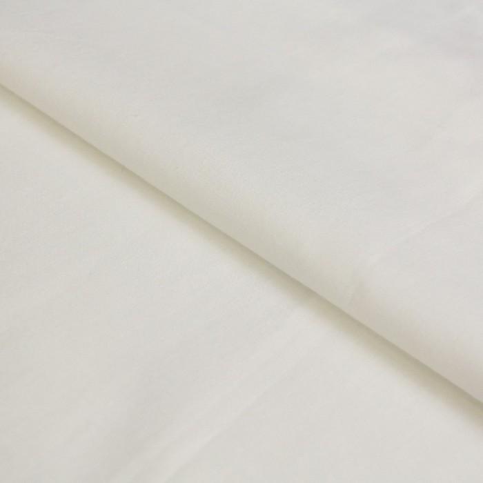 Ткань плательная, батист гладкокрашенный, ширина 150 см, молочный