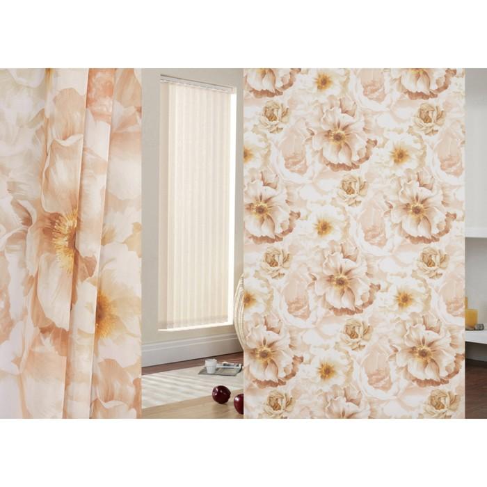 Ткань тюлевая, ширина 280 см, вуаль, печать