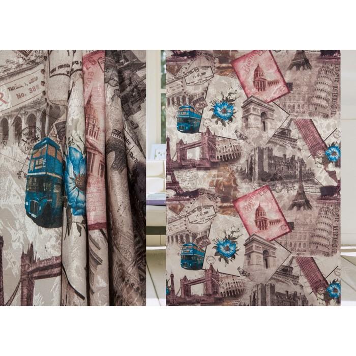 Ткань портьерная, ширина 150 см, печать