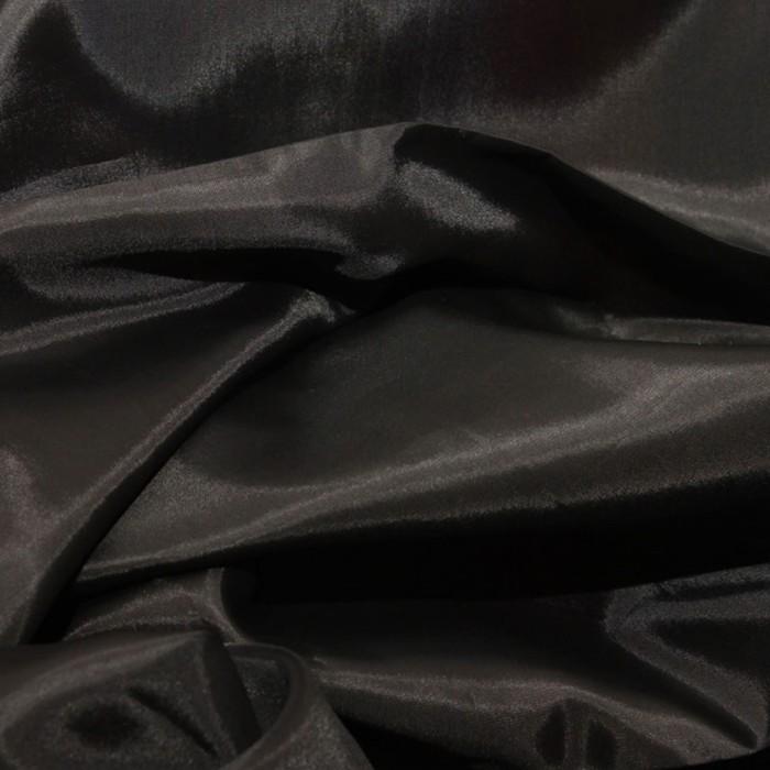 Ткань подкладочная, ширина 150 см. цвет чёрный