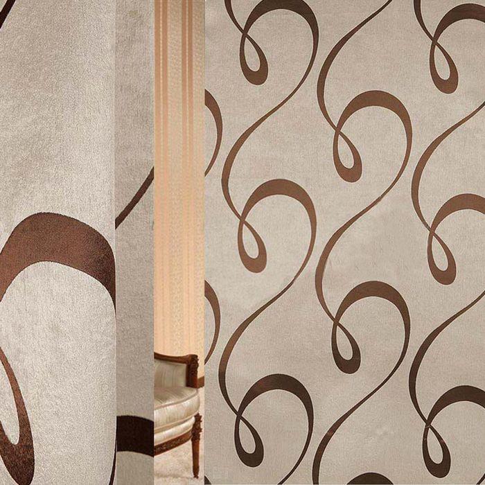 Ткань портьерная в рулоне, ширина 150 см., блэкаут 82096