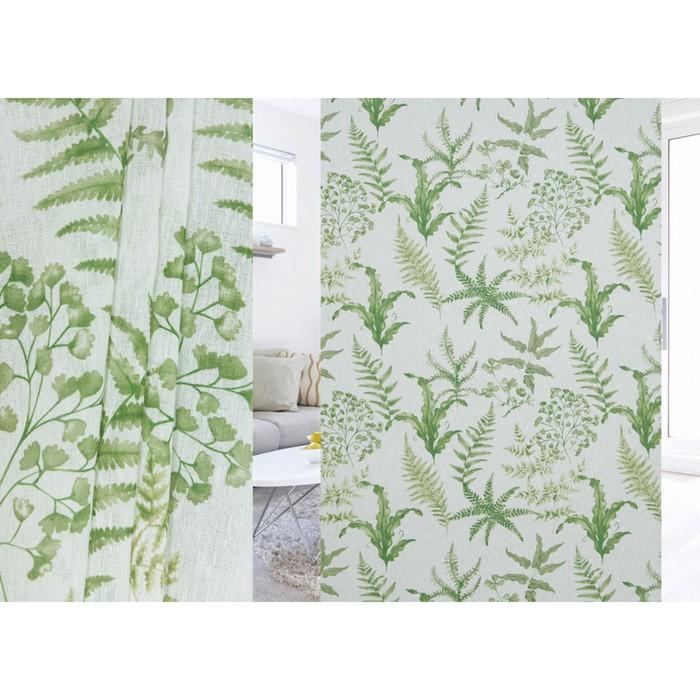 Ткань портьерная, ширина 280 см, лён, печать