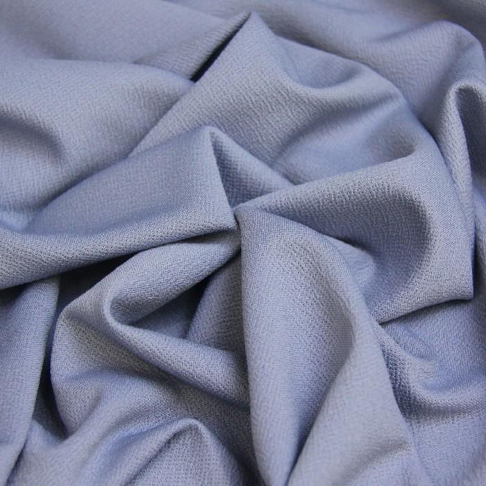 Трикотаж костюмный, гладокрашенный, ширина 150 см, голубой
