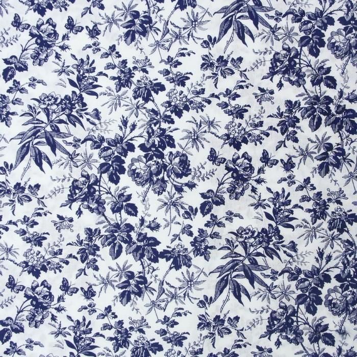 Ткань сорочечная, стрейч набивной, ширина 150 см, белый, RH 21/175