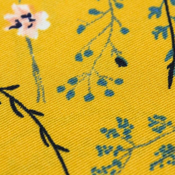 Ткань плательная, набивная, ширина 150 см, цвет оранжевый