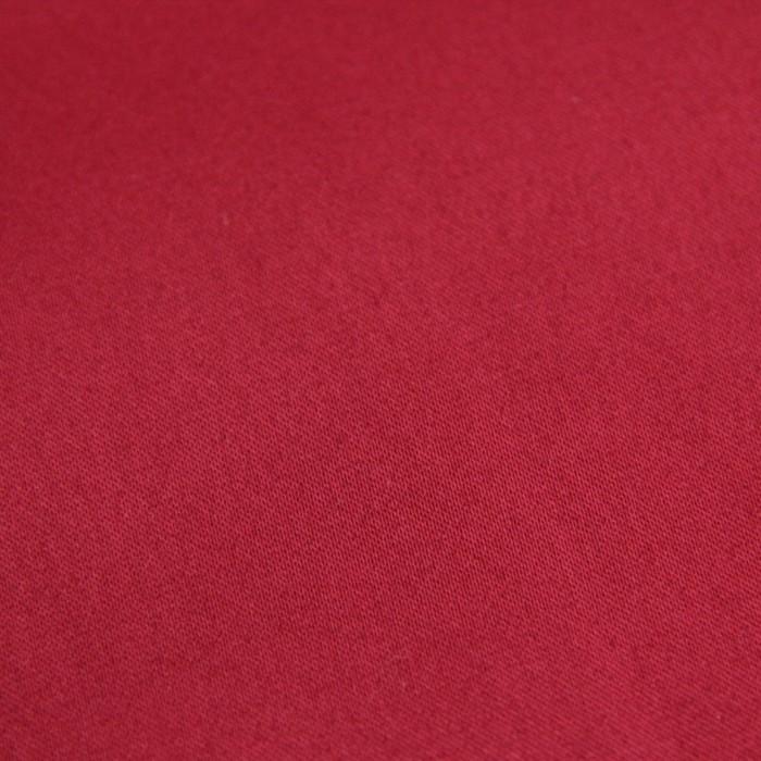 Ткань плательная, сатин гладкокрашеный, ширина 150 см, цвет гранатовый