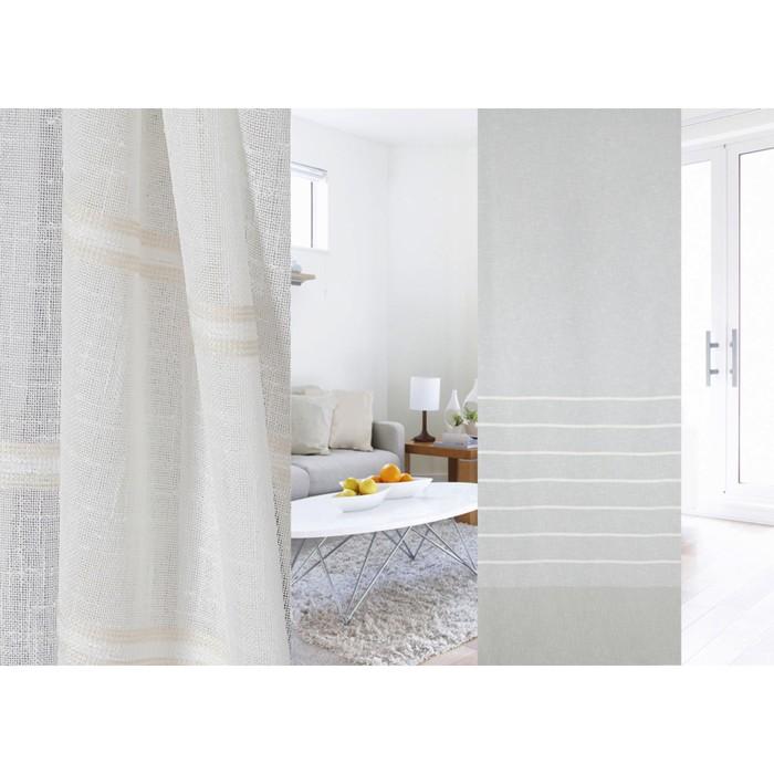 Ткань портьерная в рулоне, ширина 300 см, лён 95320