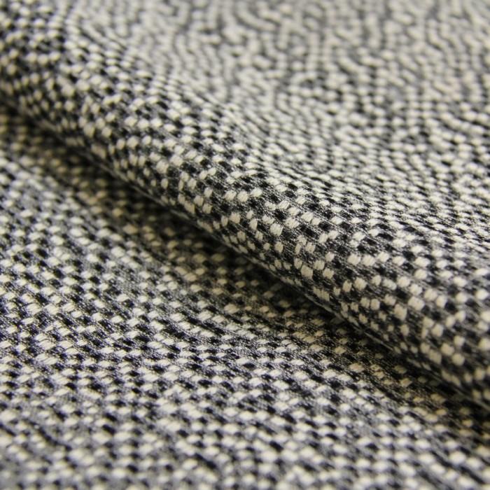 Ткань костюмная, жаккард стрейч, ширина 150 см, чёрный