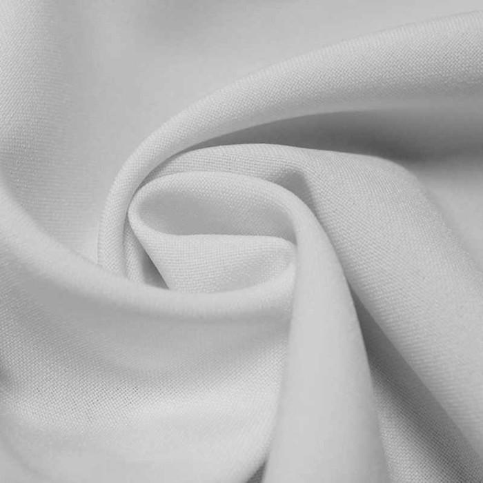 Ткань костюмная габардин, ширина 150 см, цвет белый 260 г/п.м.