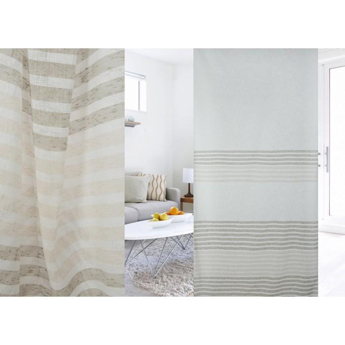 Ткань портьерная в рулоне, ширина 300 см, лён 96581