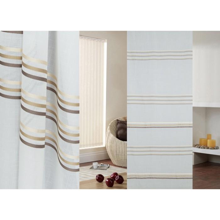 Ткань портьерная в рулоне, ширина 300 см, лён 97450