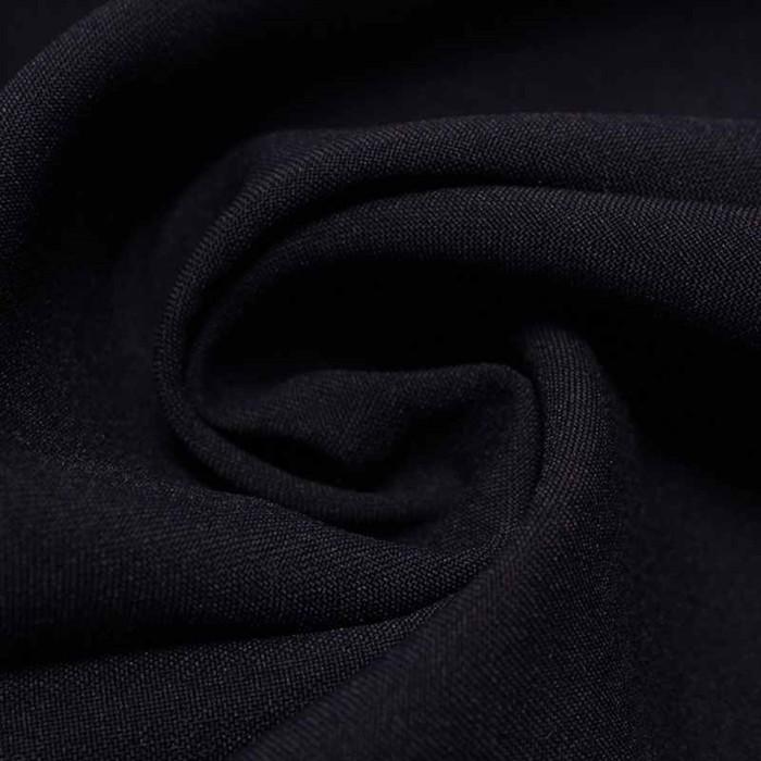 Ткань костюмная габардин, ширина 150 см, цвет тёмно-синий 260 г/п.м.