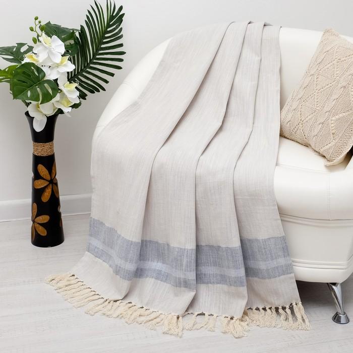 Плед «Этель Гуджарт», 125х150 ± 5 см, цвет серо-синий