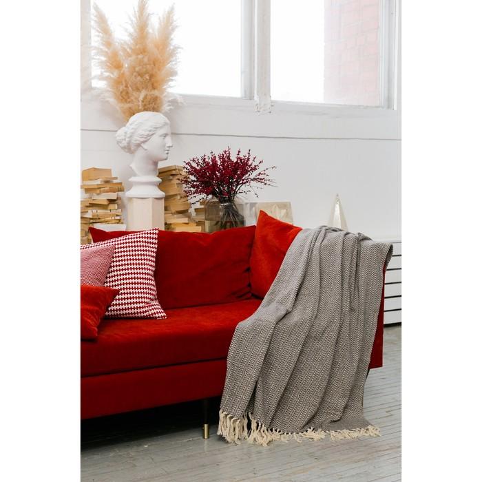 Плед «Этель Марвари», 125х150 ± 5 см, цвет серый.