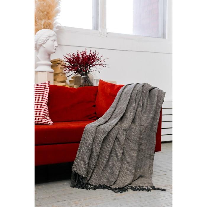 Плед «Этель: Джуги», 125 × 150 (±5) см, цвет серый