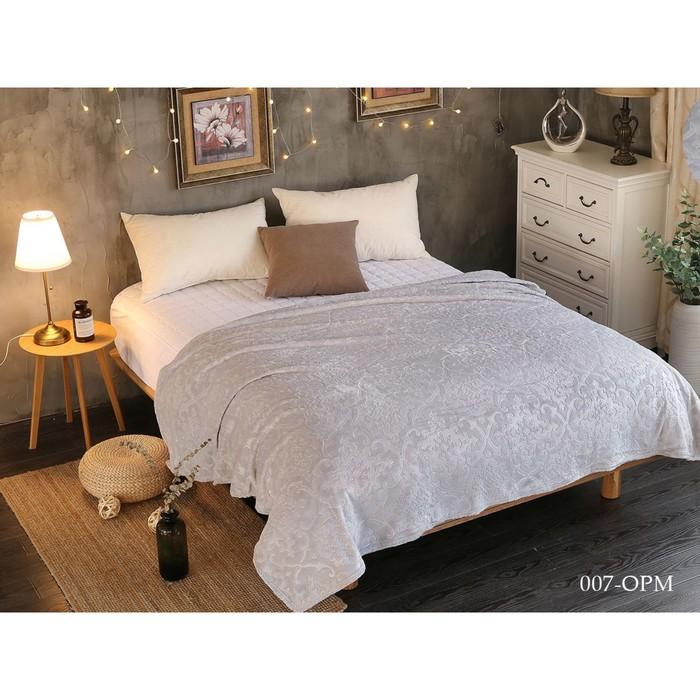 Плед Moreska, размер 150 × 200 см, цвет светло-серый, велсофт 300 гр/м2