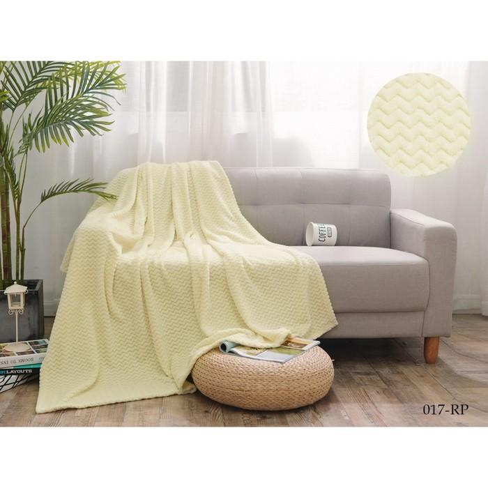 Плед Royal plush, размер 200 × 220  см, цвет светло- бежевый, велсофт