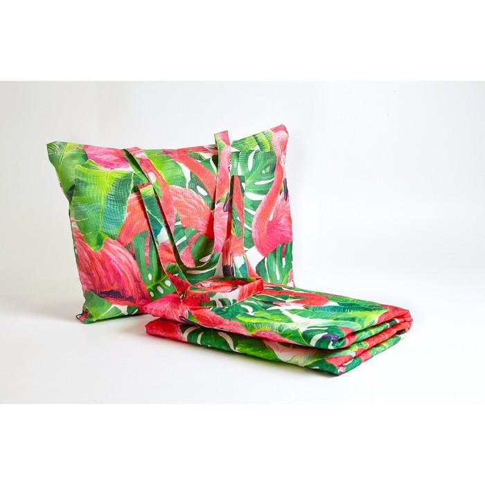"""Пляжное покрывало """"Фламинго"""" 145х200 см, микрофибра, полиэстер 100%"""