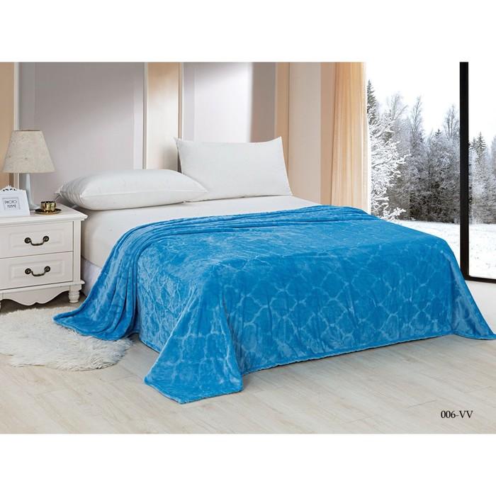 Плед Velvet, размер 200 × 220 см, цвет голубой