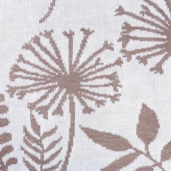 """Вязаный плед """"Этель"""" Одуванчики, размер 110х140 см, 100% полиэстер"""